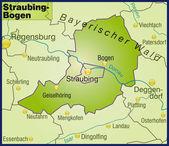 Fotografie Straubing-Bogen Umgebungskarte Übersicht