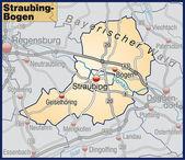 Fotografie Straubing-Bogen und Umgebungskarte orange