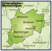 Fotografie Unterallgäu+Memmingen als Umgebungskarte Übersicht