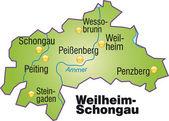 Fotografie Weilheim-Schongau Inselkarte Übersicht