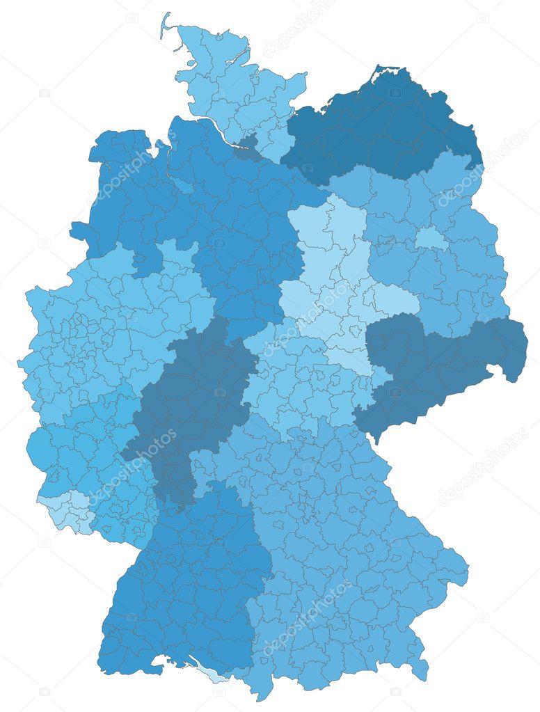 deutschlandkarte blau Deutschland mit Kreisen blau — Stock Vector © artalis #7702232