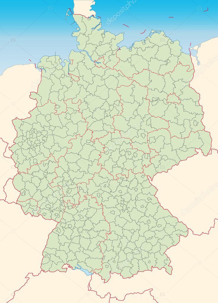 Kreiskarte Von Deutschland Stumm Stock Vector C Artalis 7702268