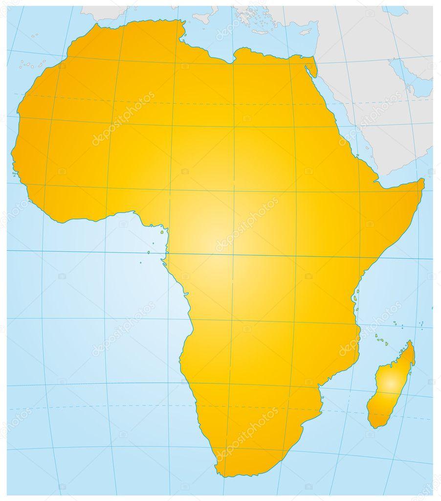 Stumme Karte Afrika.Afrika Als Stumme Karte Stock Vector Artalis 7702304