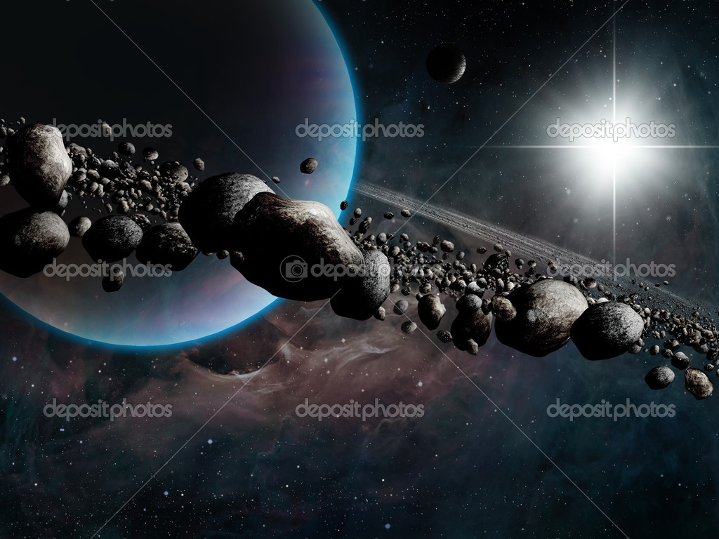 Fantasy Space Art with Saturn