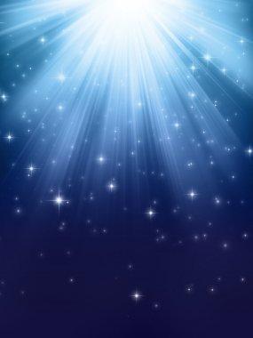 Shining lights in water