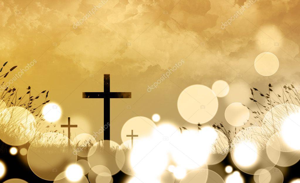 Three crosses backround