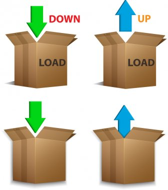 Download and Upload boxes