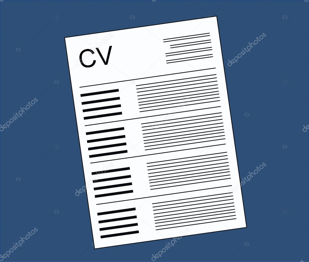 cv curriculum vitae stock vector