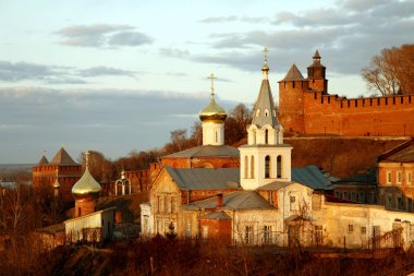 Church of Elijah the Prophet and Kremlin. Nizhny Novgorod, Russi