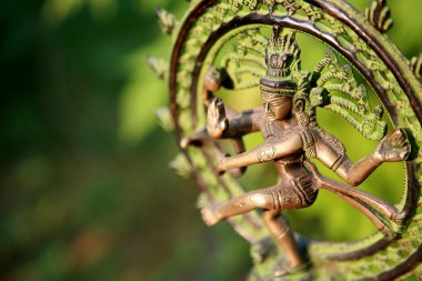 Statue of Shiva - Lord of Dance at sunlight