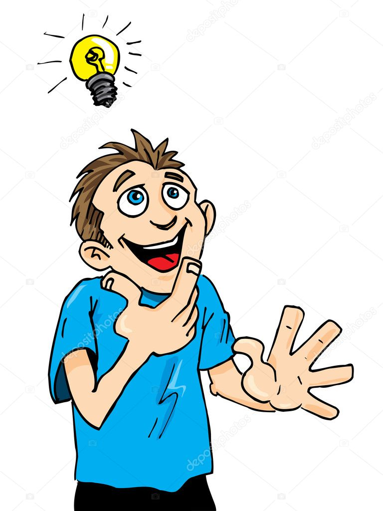 Cartoon man gets an electric shock — Stock Vector © compressor #14486909