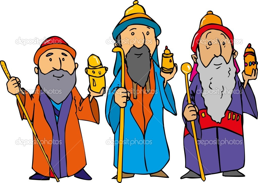cartoon of the three wise men stock vector antonbrand 7781391 rh depositphotos com Three Wise Men Clip Art wise men clipart black and white