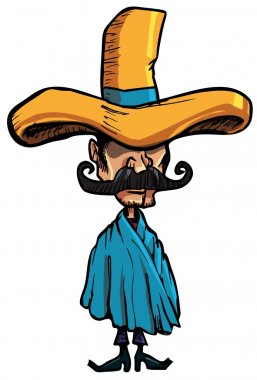 Cartoon Mexican islolated one white