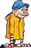 Fotografie Karikatur eines Buckzahn-Verlierers