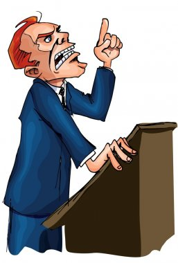 Man giving a passionate speech