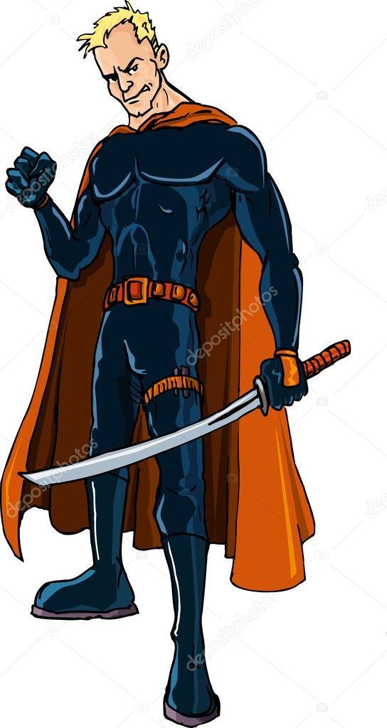 Dessin anim ninja super h ros avec une p e image vectorielle antonbrand 7902763 - Dessin anime ninja ...