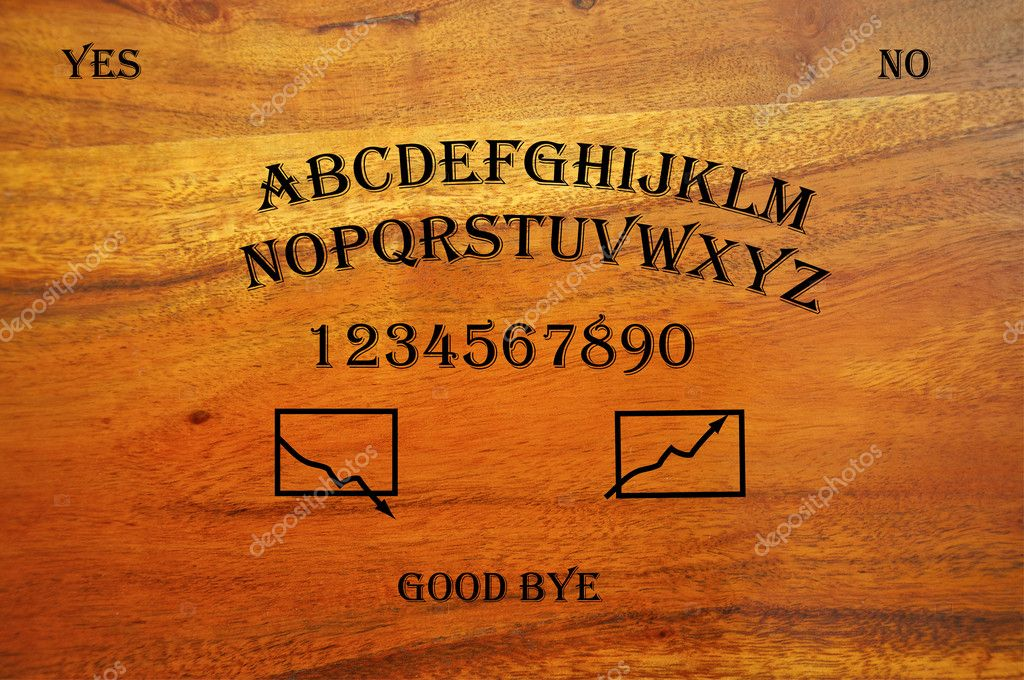 Ouija Board Used For Stock Trading Depicting The