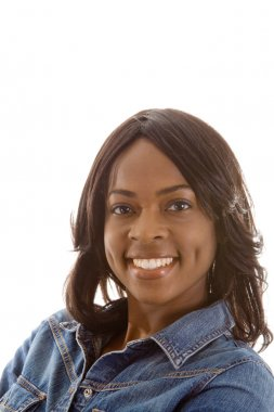Smiling Black African American Woman Isolated