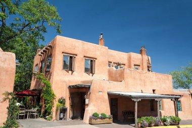 Modern Adobe Restaurant in Santa Fe, New Mexico, United States