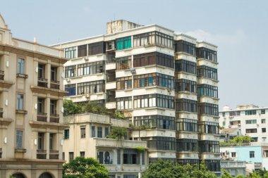 Old Run Down Apartment Buildings in Guangzhou, China