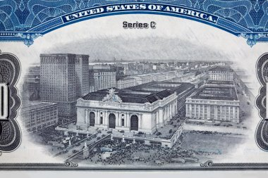 Engraving of Grand Central Station Rail Road Stock Certificate