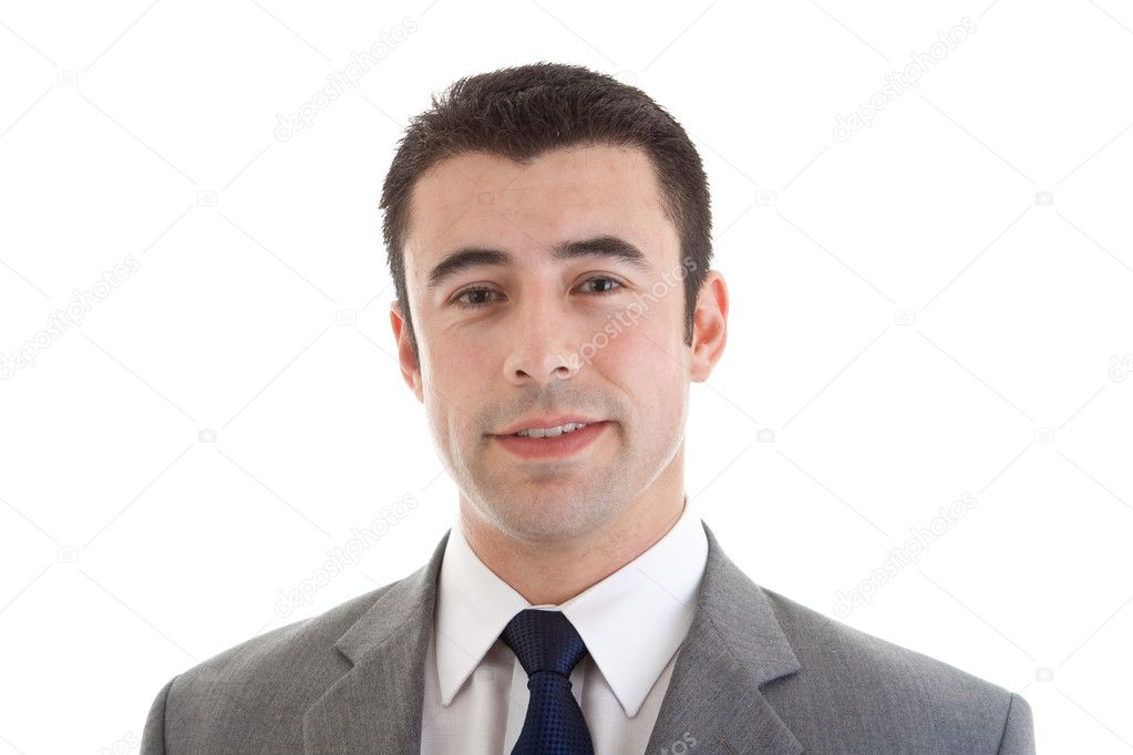 Smiling Hispanic Man Headshot