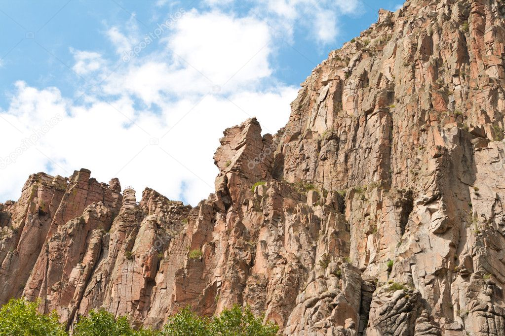 Cimarron Canyon Cliff Sangre de Cristo Mountain US