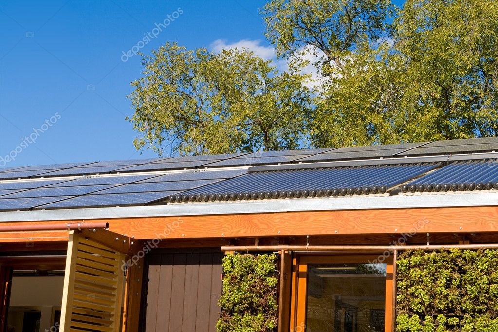 Roof House Home Solar Panel Hot Water Heating Tube