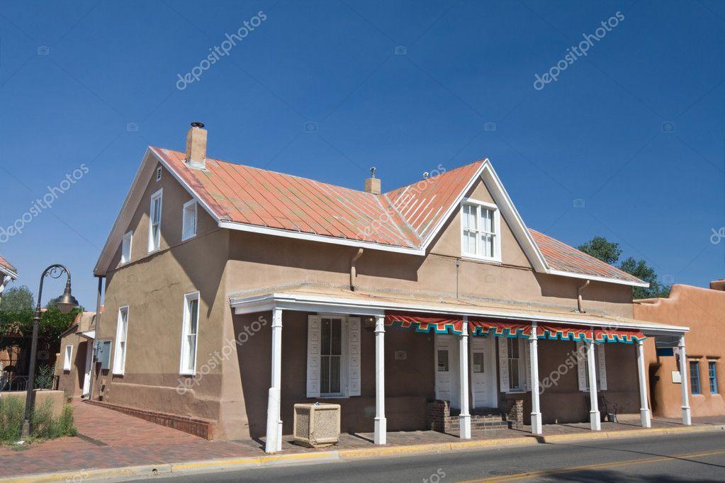 General Store In Santa Fe, New Mexico Blue Sky