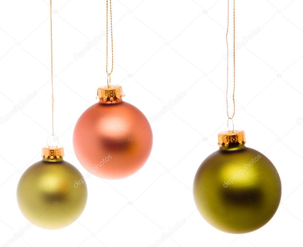 pastel pink salmon green christmas balls isolated stock photo - Pastel Green Christmas Decorations