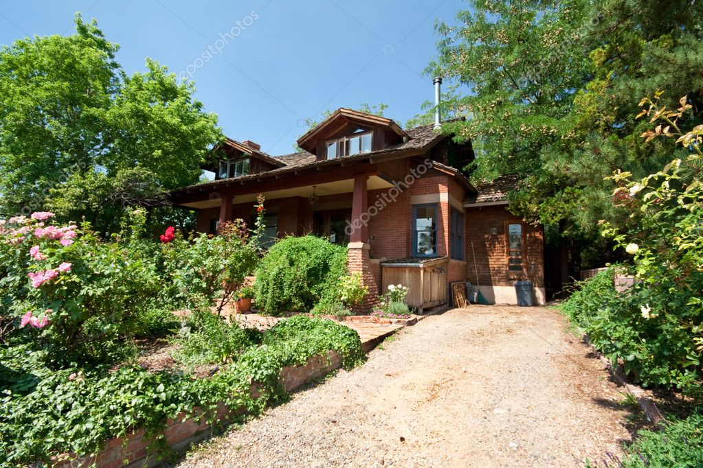Single Family Home with Garden in Santa Fe, New Mexico, USA