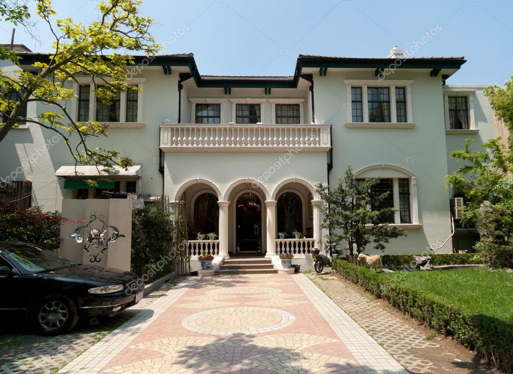 Old Mediterranean Stucco Home in Shanghai, China
