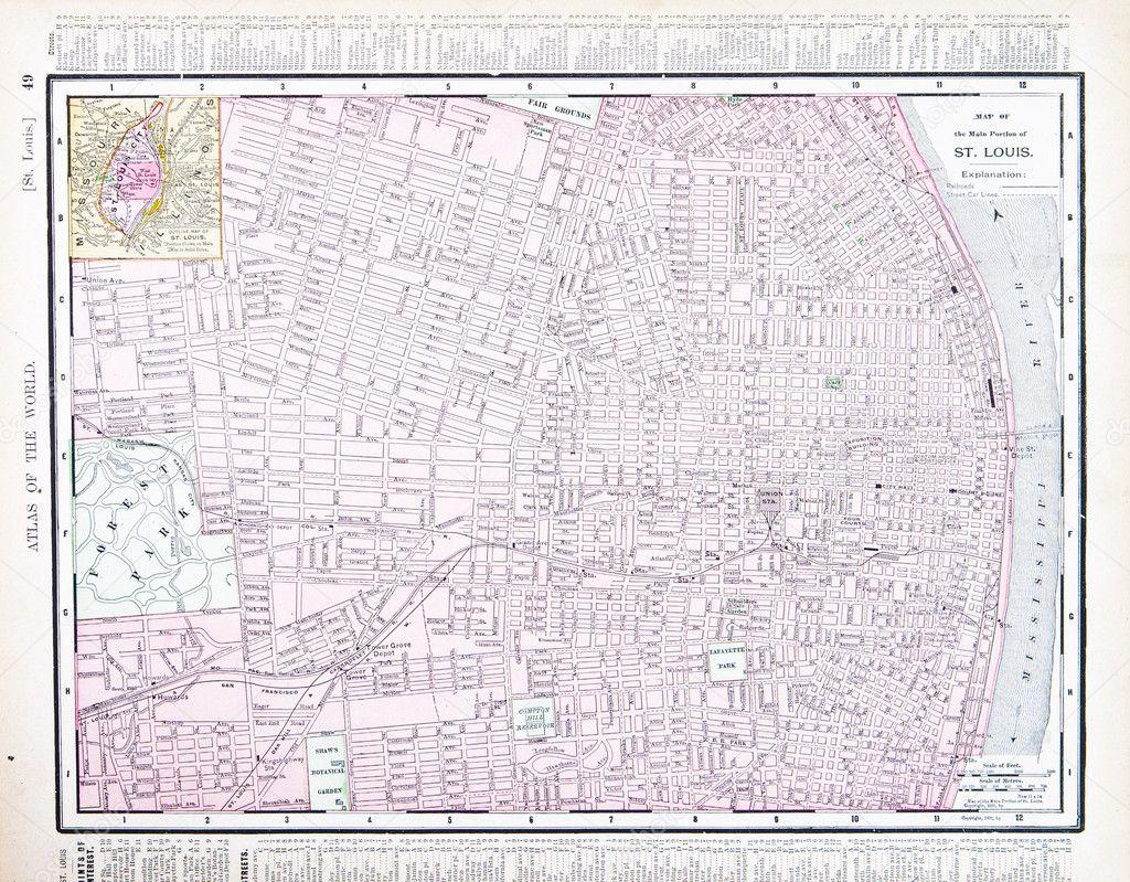 Detailed Street City Map, St. Louis, Missouri, USA — Stock ... on dover map usa, long beach map usa, providence map usa, riverside map usa, birmingham map usa, augusta map usa, salem map usa, manchester map usa, oakland map usa, st. lous map usa, el paso map usa, new haven map usa, hartford map usa, trenton map usa, clarksville map usa, phoenix map usa, austin map usa, little rock map usa, montgomery map usa, omaha map usa,