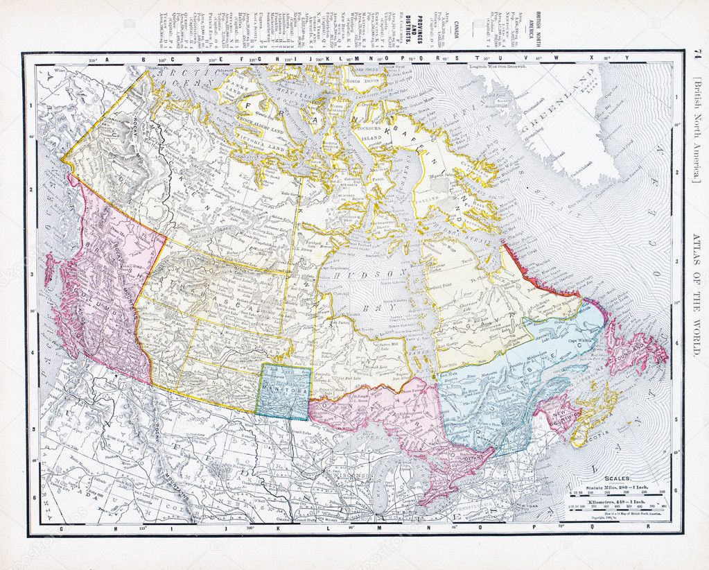 Map Of Canada 1900.Antique Vintage Color Map Of Canada Stock Photo C Qingwa 7895592