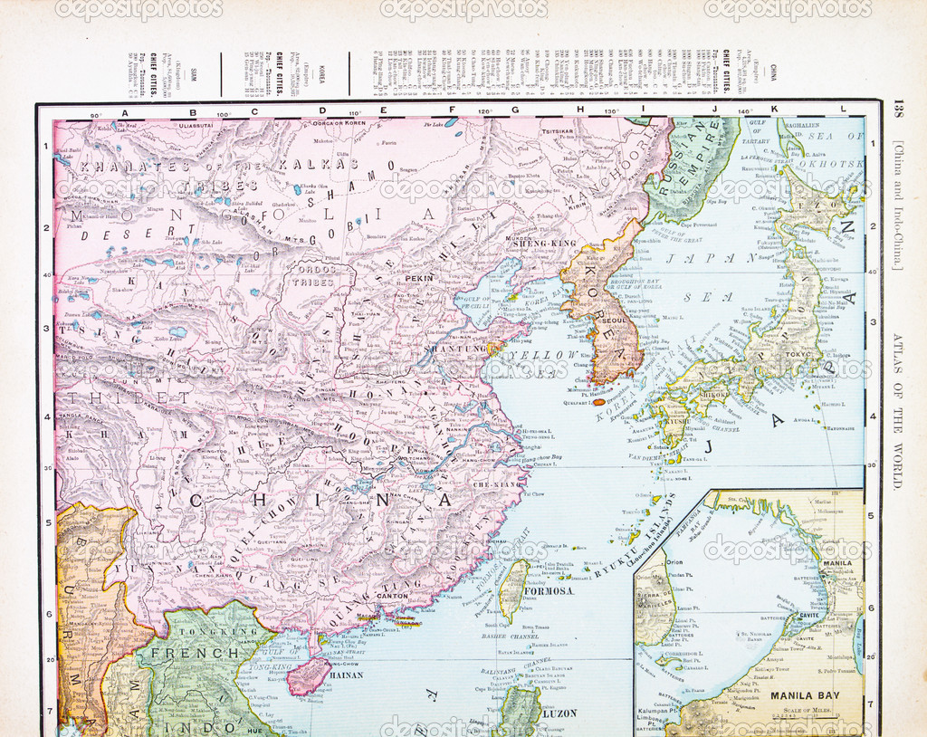 color copy of antique Chinese map of Korea