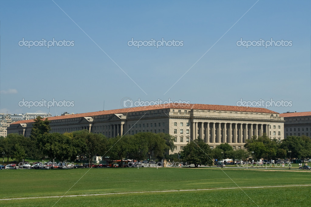 Exterior Department of Commerce Building, Washington DC Mall, US