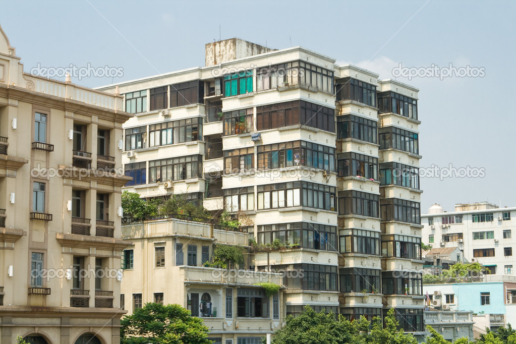 small old apartment building. Old Apartment Buildings in Guangzhou  China Photo by Qingwa Run Down Stock