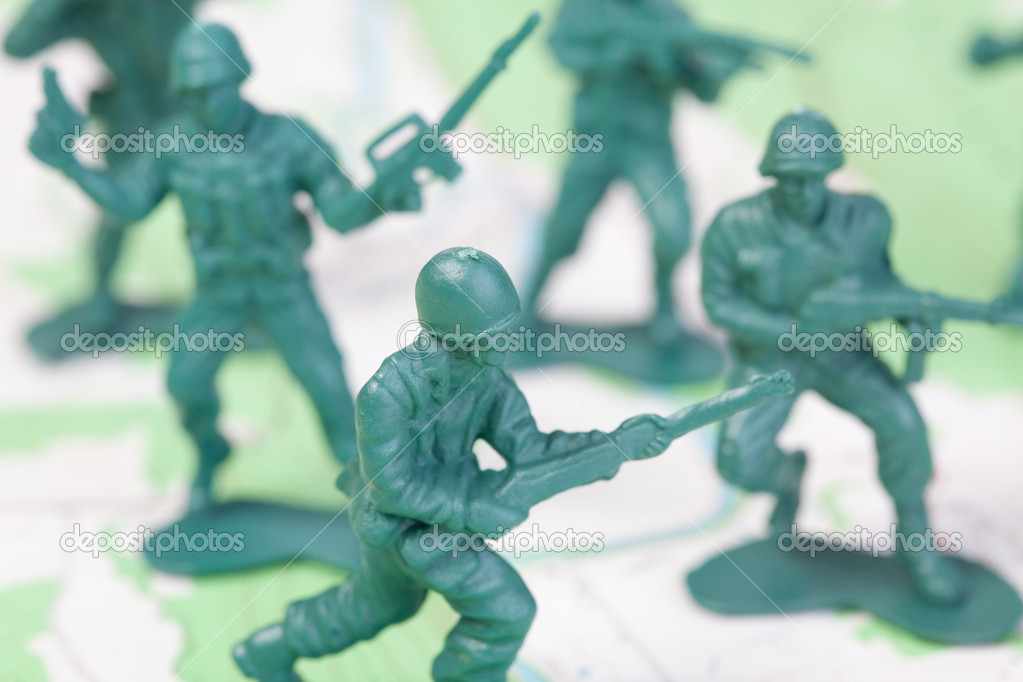 Plastic Army Men Fighting On Topographic Map The Map Was Produced By The U S Geological Survey And Is In The Public Domain Photo By Qingwa