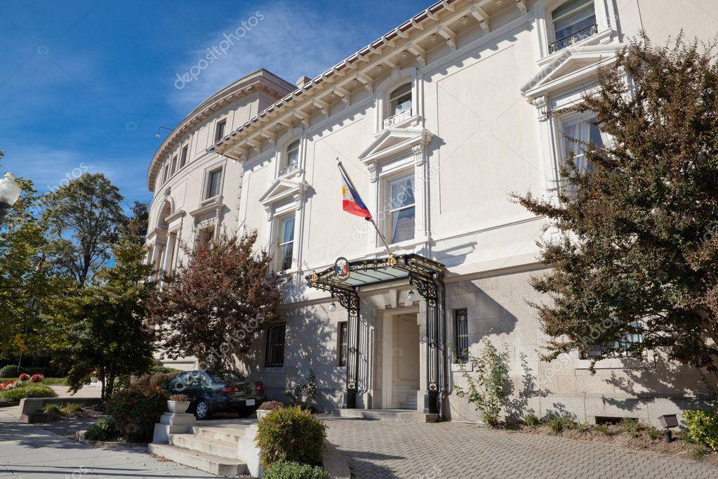 Philippines embassy building house washington dc stock for Building a house in washington state