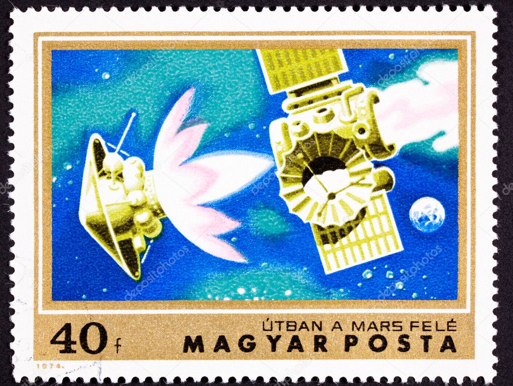 Stamp Mars Bound Space Probe Rocket Separation — Stock Photo ...