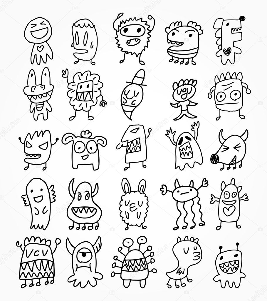 how to draw little monsters