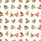 Photo seamless sailboat pattern