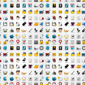 bezešvé webové ikony vzorek. vektorové ilustrace
