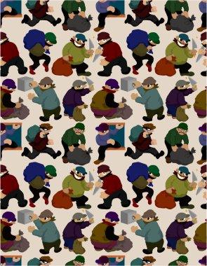 seamless thief pattern seamless thief pattern