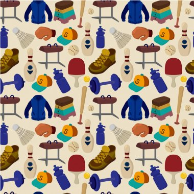 seamless Sporting Goods pattern