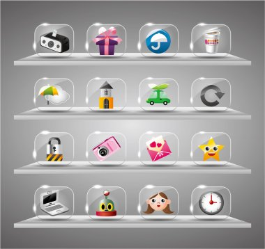 Website Internet Icons ,Transparent Glass Button clip art vector