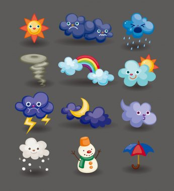 Cartoon weather icon stock vector