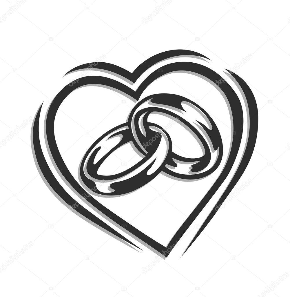 Кольца свадебные вектор