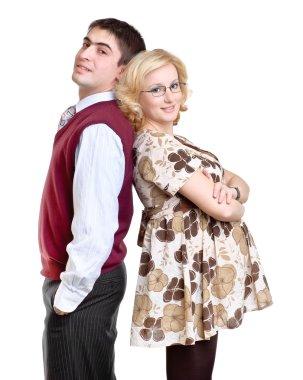 Happy couple, pregnant wife