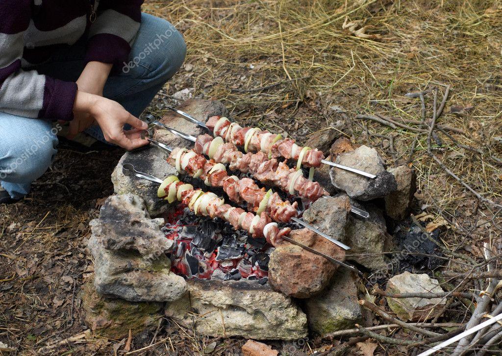 Kebab preparing